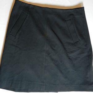 Lands End Women's Skirt Black Pencil Zipper Vent